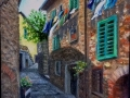"Ambre, Italy    Oil on Paper, 9"" x 12"""