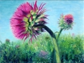 "Mature Thistle    Monotype, Oil on Paper, 40"" x 30"""