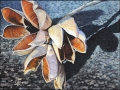 """Yucca Pods     Monotype, OIl on Paper   40"""" x 30"""""""