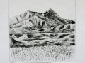 Big Sky - dry point etching